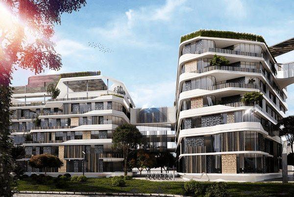 مساحات كمبوند بلوم فيلدز مدينه المستقبل